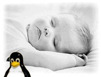 baby and linux