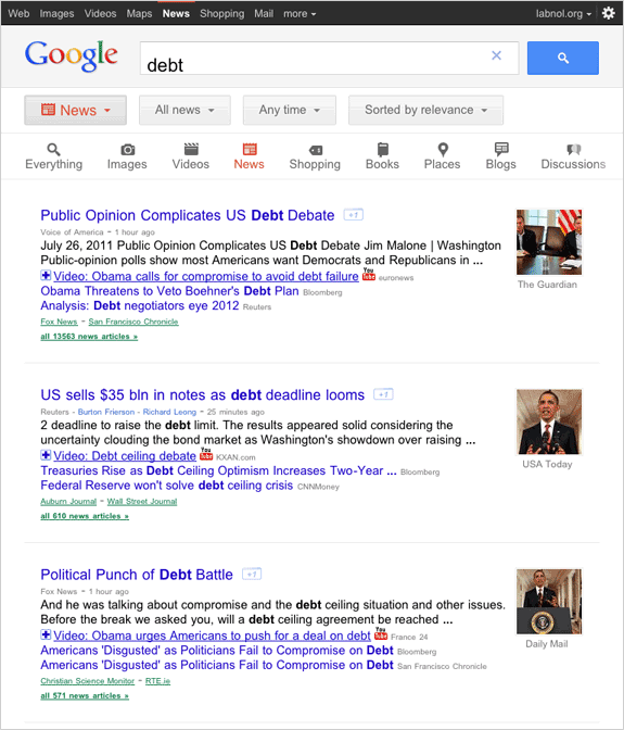google news search