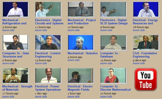 IIT Video Lectures on YouTube