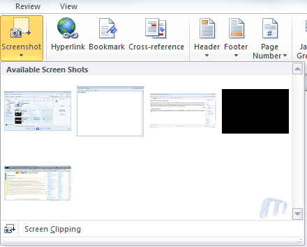 office 2010 screenshots