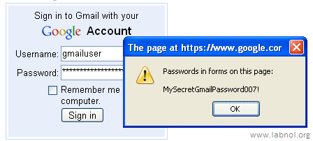 reveal gmail password