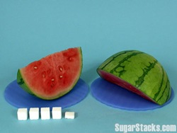 sugar in watermelon slices