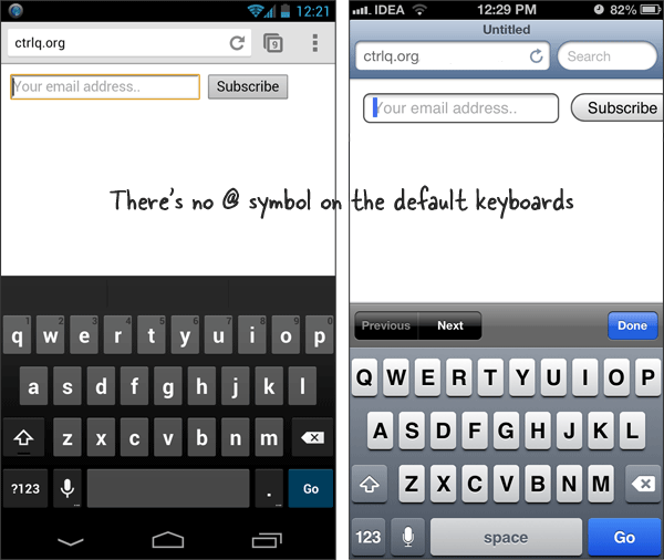 Virtual Keyboard - iPhone and Android