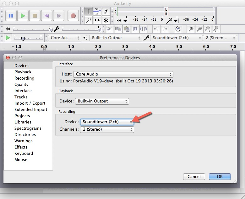 Audacity Record Audio - Preferences