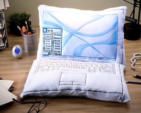 computer screen pillow