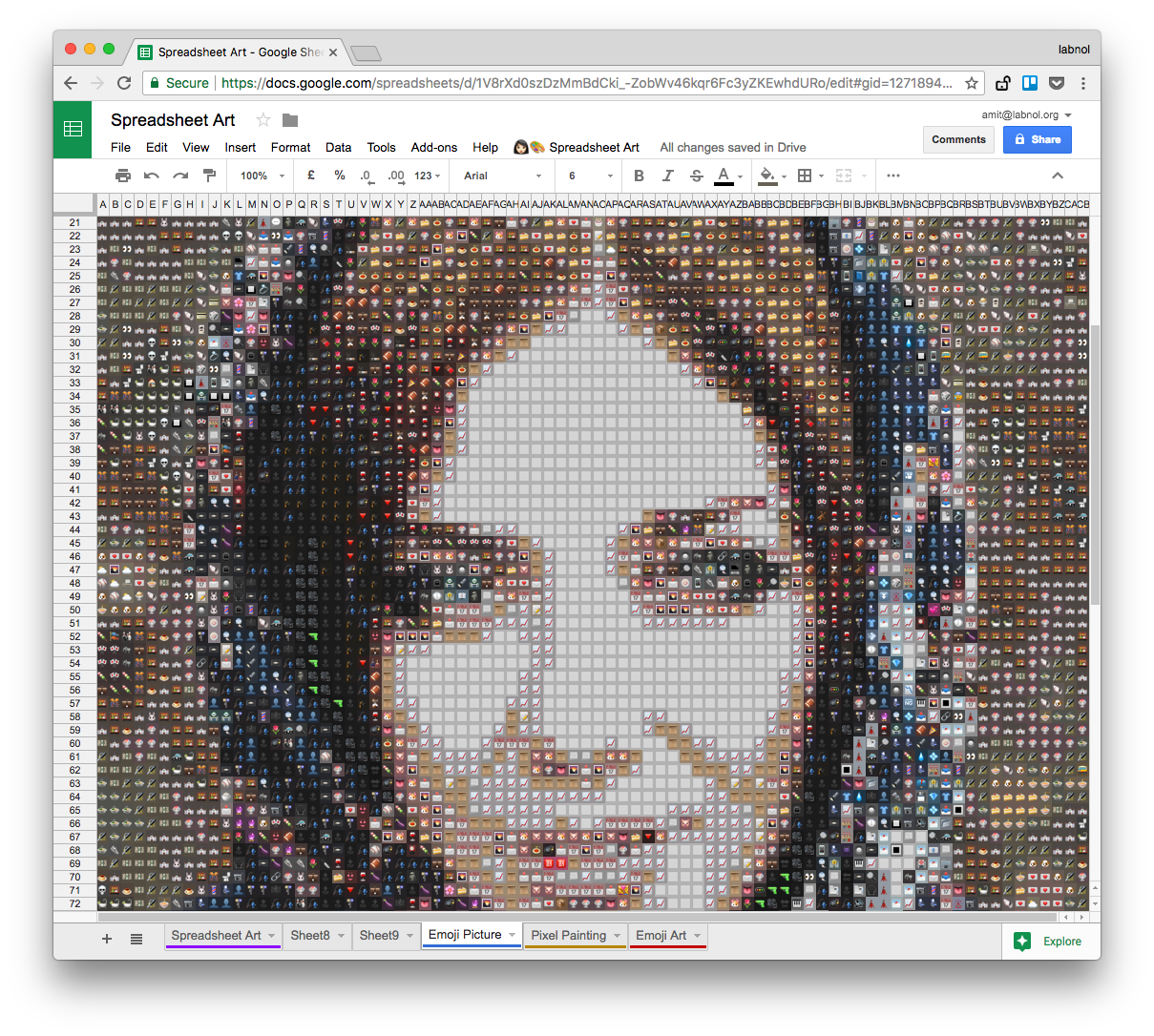 How To Make Pixel Paintings With Google Spreadsheets Digital Inspiration