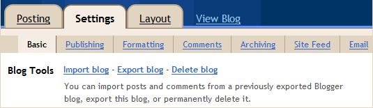 export blogger