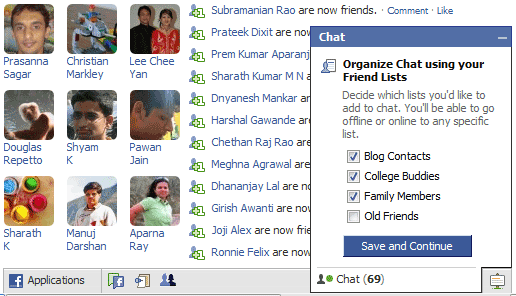 hide in facebook chat