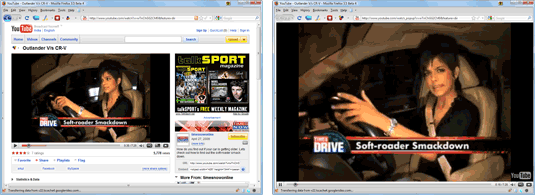 full screen mode in YouTube