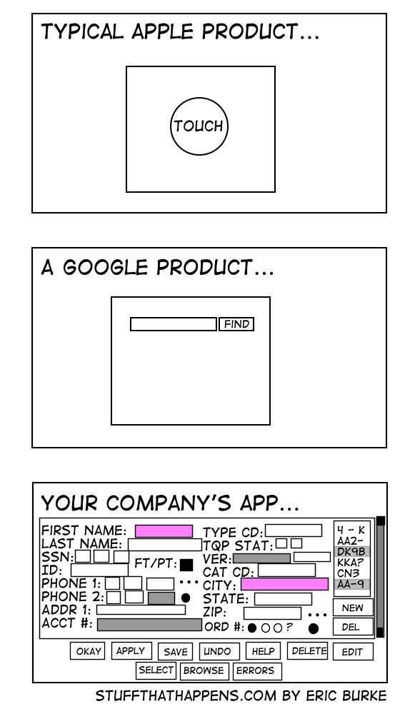 google and apple design