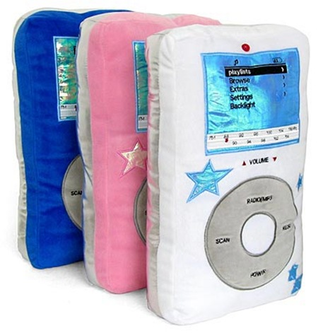 ipod mp3 pillows