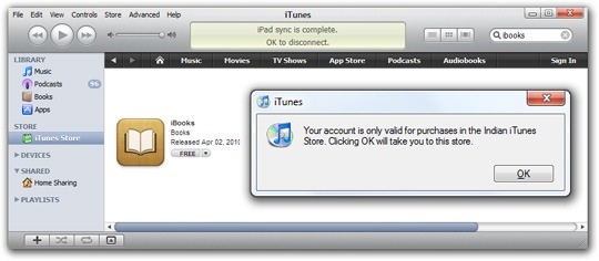 Error - iTunes Store in your Country