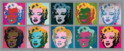 Marilyn Monroe Warhol Pop Art