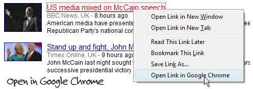 open google chrome from firefox