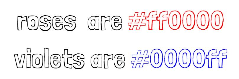 rgb hexadecimal colors