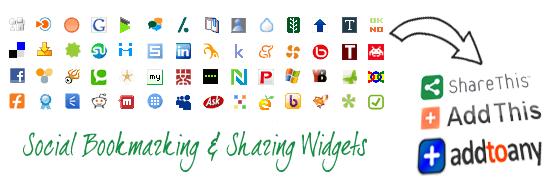 social bookmark widgets