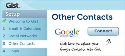 upload gist contacts
