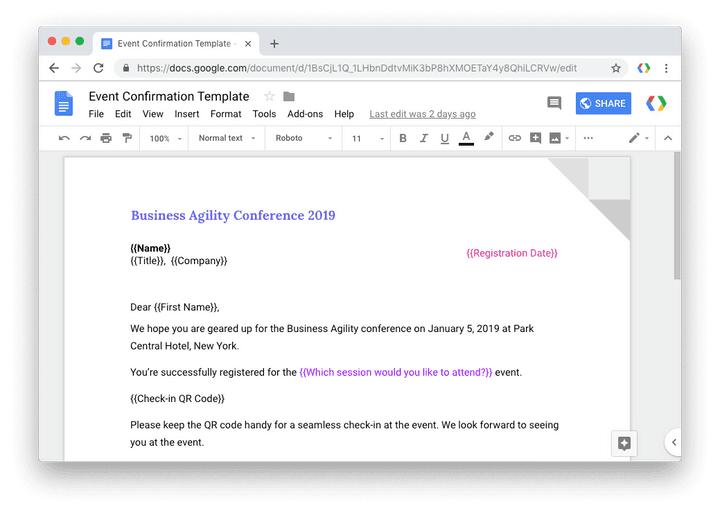 Google Forms Merge Document