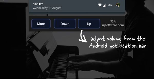 Android Volume Slider in Notification Bar