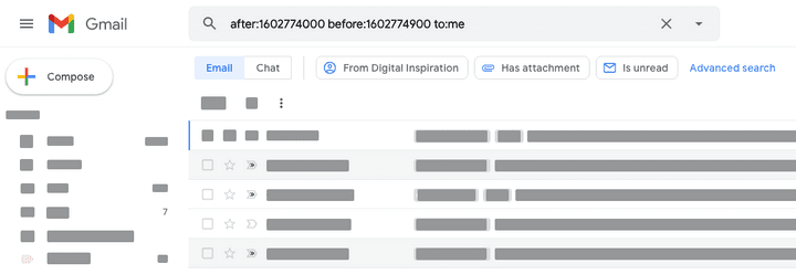 Gmail Search Date and Time