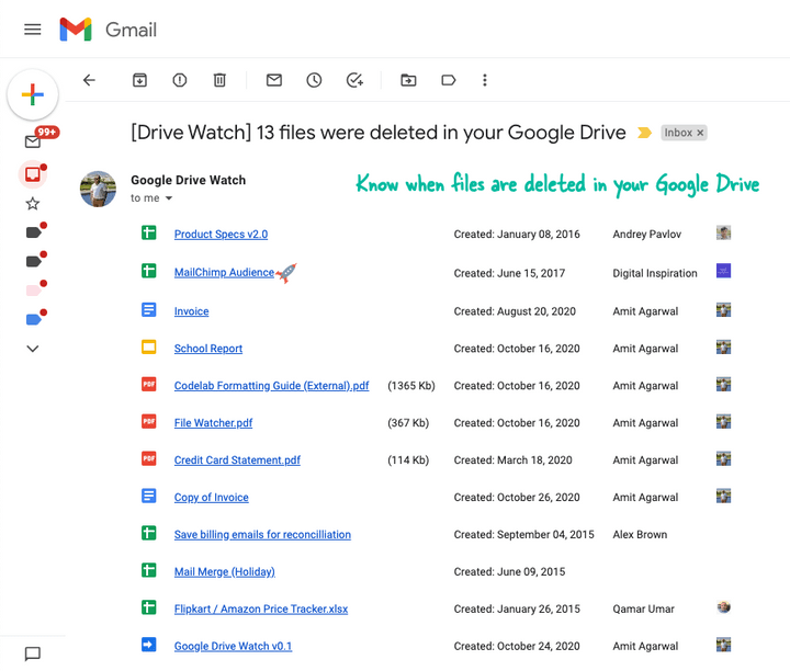 Google Drive Watch Deleted Files