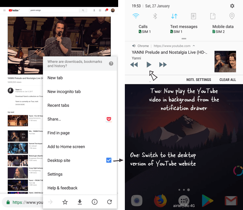 Use Google Chrome On Android To Play Youtube Videos In The Background Digital Inspiration