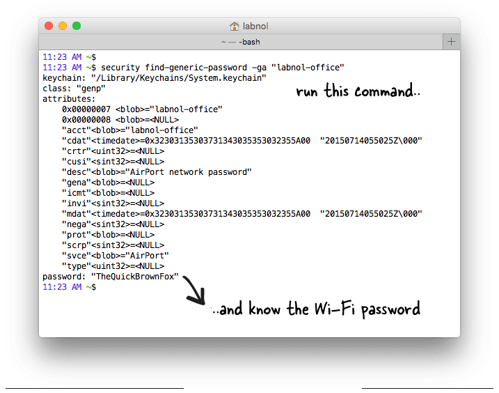 WiFi Password for Mac OS X