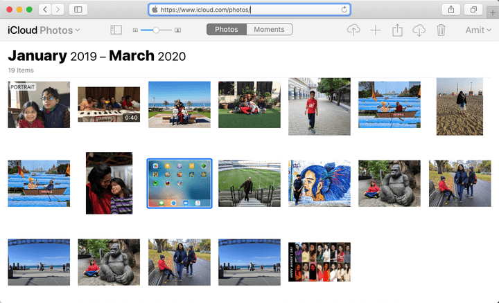 Download Photos from the iCloud website