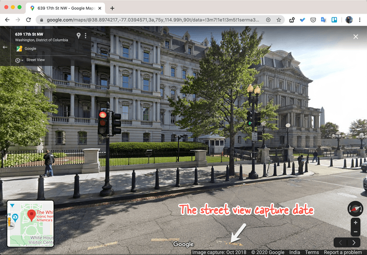Dates in Street View Images