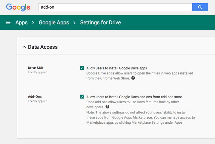 Google Apps Add-ons