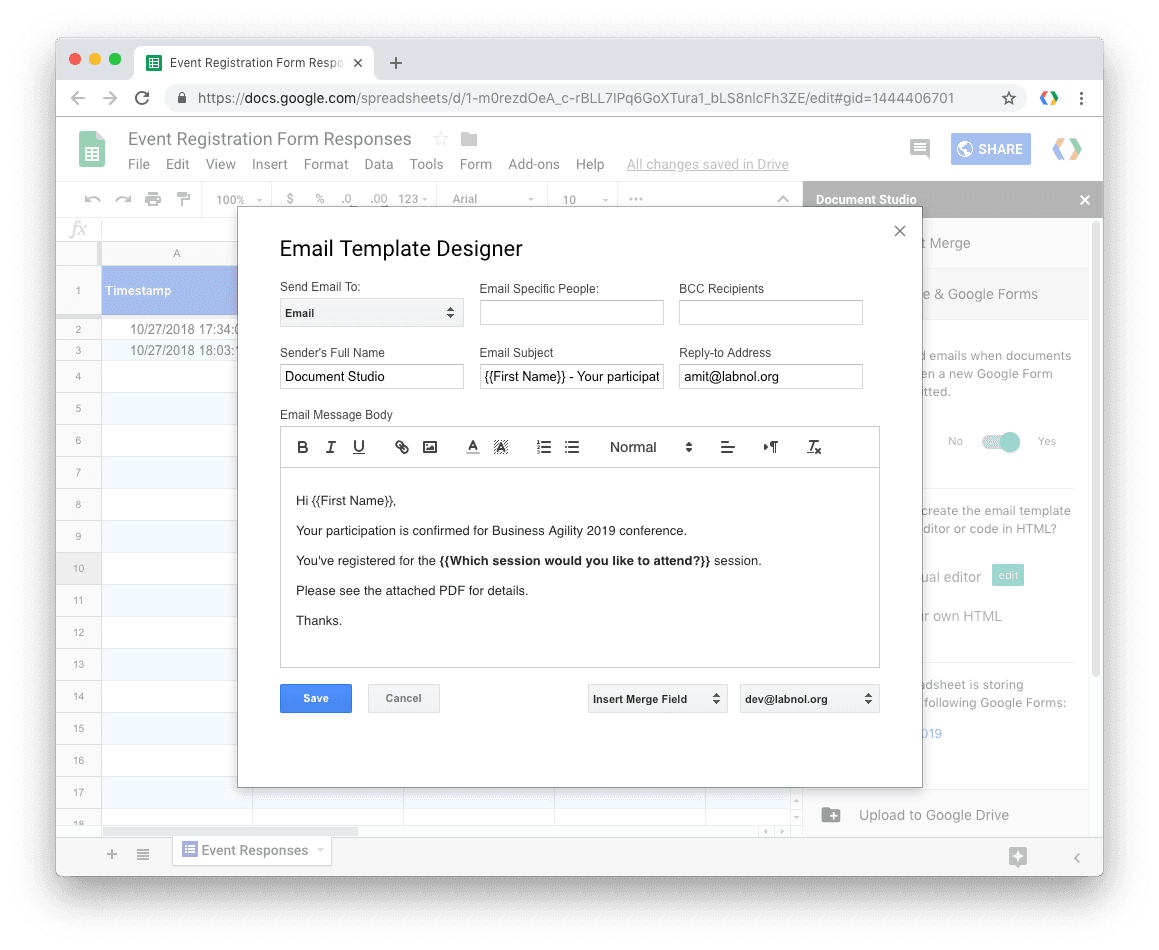 How to Automatically Create PDFs with Google Form Responses ...