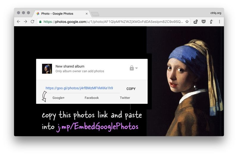 How to Embed Images from Google Photos into your Website