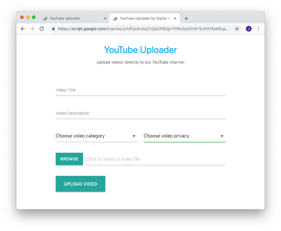 YouTube Uploader - Let Others Upload Videos to your YouTube Channel