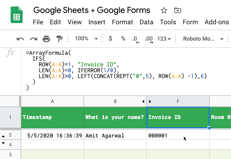 How to Use Formulas with Google Form Responses in Sheets